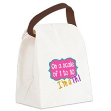 I'm a 13.1 Pink Canvas Lunch Bag