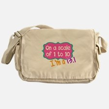 I'm a 13.1 Pink Messenger Bag
