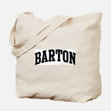 BARTON (curve-black) Tote Bag