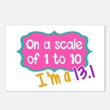 I'm a 13.1 Pink Postcards (Package of 8)