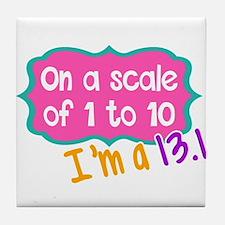 I'm a 13.1 Pink Tile Coaster