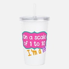 I'm a 13.1 Pink Acrylic Double-wall Tumbler