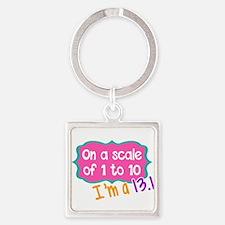 I'm a 13.1 Pink Keychains