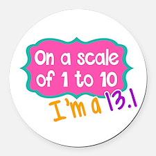 I'm a 13.1 Pink Round Car Magnet