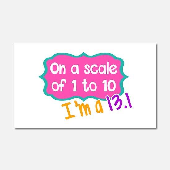 I'm a 13.1 Pink Car Magnet 20 x 12