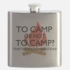 To Camp Or Not To Camp Flask