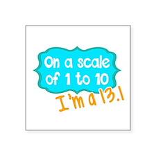 I'm a 13.1 Teal Sticker