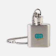 I'm a 13.1 Teal Flask Necklace