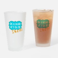 I'm a 13.1 Teal Drinking Glass