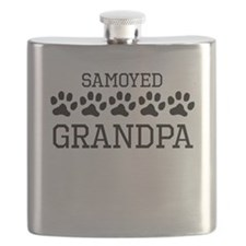 Samoyed Grandpa Flask