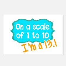 I'm a 13.1 Teal Postcards (Package of 8)