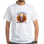 Two Eagles-a on White T-Shirt