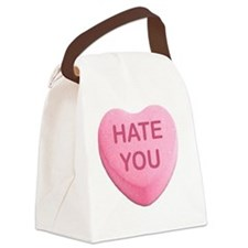 Funny Hilarious valentine Canvas Lunch Bag