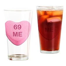 Cute Antivalentine Drinking Glass
