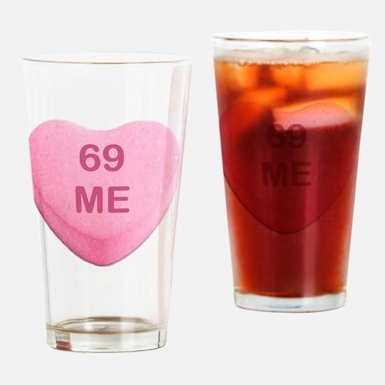 Hilarious valentine Drinking Glass