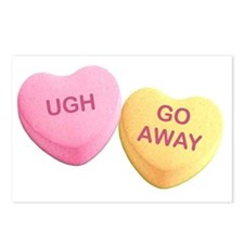 Funny Hilarious valentine Postcards (Package of 8)
