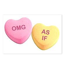 Unique Hilarious valentine Postcards (Package of 8)