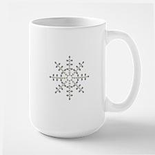 winter snowflake Large Mug