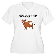 Custom Brown Cow Plus Size T-Shirt
