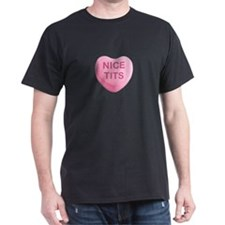 Nice Tits Candy Heart T-Shirt
