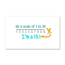 Scale of 1 to 10 Car Magnet 20 x 12