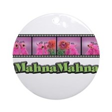 Cute Mahna mahna Ornament (Round)