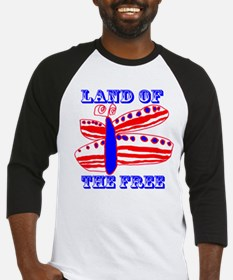 Land of the Free Butterfly Baseball Jersey