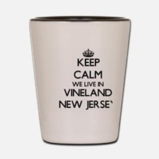 Keep calm we live in Vineland New Jerse Shot Glass