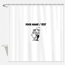 Custom First Place Cow Shower Curtain