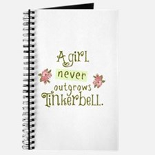 A Girl Never Outgrows Tinkerbell Journal