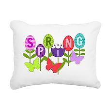 spring eggs Rectangular Canvas Pillow