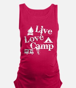 Live, Love, Camp Maternity Tank Top