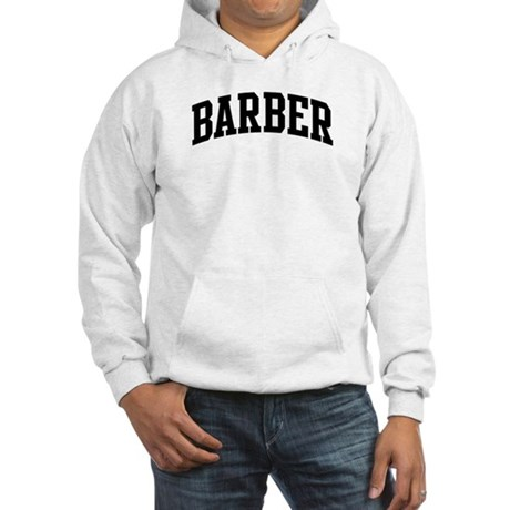 BARBER (curve-black) Hooded Sweatshirt