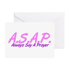 Pink ASAP Greeting Cards (Pk of 10)