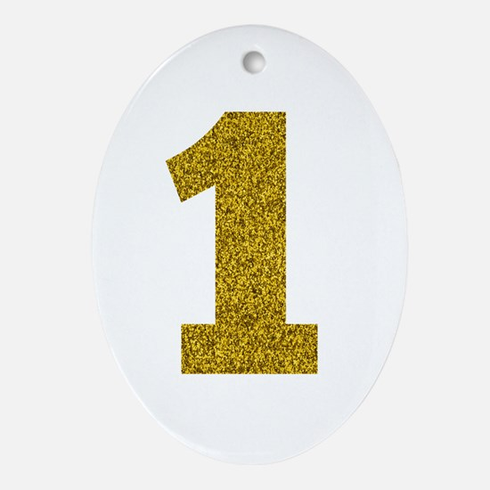Number 1 Ornament (Oval)