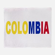Colombia tricolor name Throw Blanket