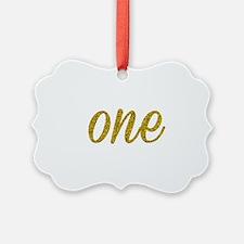 One Script Ornament
