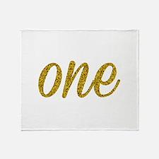 One Script Throw Blanket