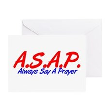 Red ASAP Greeting Cards (Pk of 10)