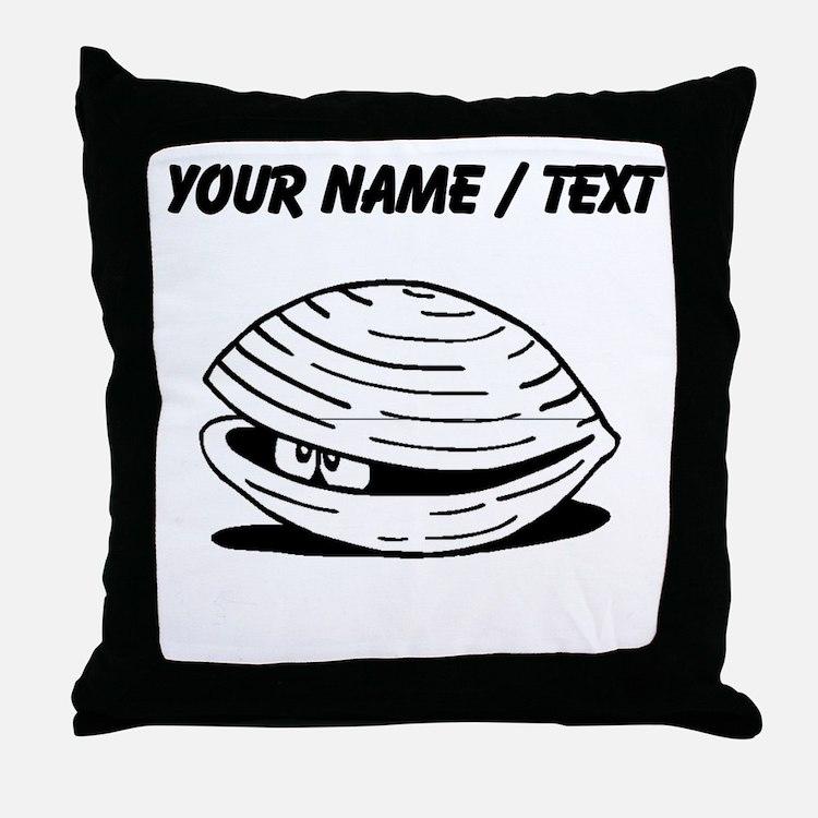 Custom Clam Throw Pillow