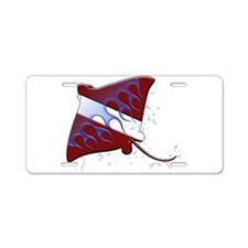 Dive Ray (W).png Aluminum License Plate
