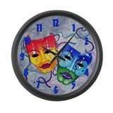 Comedy tragedy Wall Clocks
