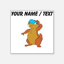 Custom Chipmunk Peeking Sticker