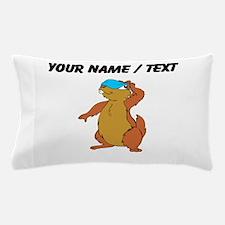 Custom Chipmunk Peeking Pillow Case