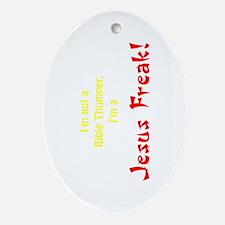 Bible Thumper Oval Ornament