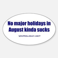 No August Holidays 01 Oval Decal