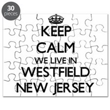 Keep calm we live in Westfield New Jersey Puzzle