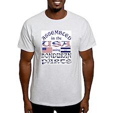 USA/Honduran Parts Ash Grey T-Shirt