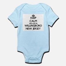 Keep calm we live in Willingboro New Jer Body Suit