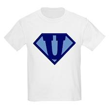 Super Hero Letter U T-Shirt
